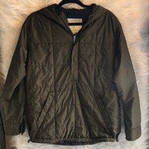 Exley NB Green Quilted Pullover Size M